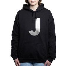 Letter J White Hooded Sweatshirt