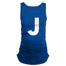 Letter J White Maternity Tank Top