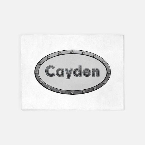 Cayden Metal Oval 5'x7'Area Rug