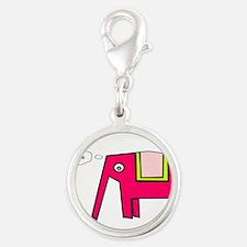 Pink elephant Charms