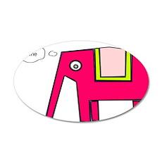 Pink elephant Pegatinas de pared