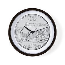 Iowa State Quarter Wall Clock