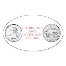 Iowa State Quarter Oval Decal