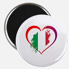 Cute Black with italian flag Magnet