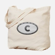 C Metal Oval Tote Bag