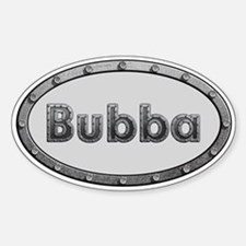 Bubba Metal Oval Decal