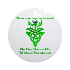 No One Harms Me Ornament (Round)
