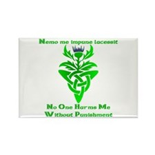 No One Harms Me Rectangle Magnet (10 pack)
