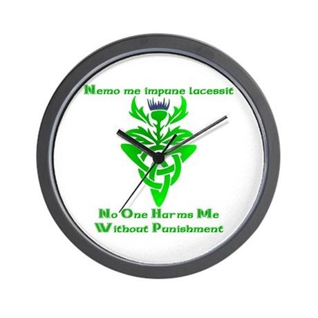 No One Harms Me Wall Clock