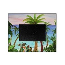 Aqua Beach Palms Picture Frame