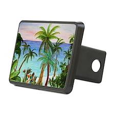Aqua Beach Palms Hitch Cover