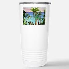 Aqua Beach Palms Travel Mug