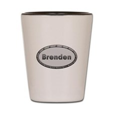 Brenden Metal Oval Shot Glass