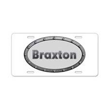 Braxton Metal Oval Aluminum License Plate