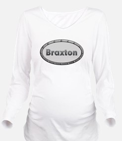 Braxton Metal Oval Long Sleeve Maternity T-Shirt