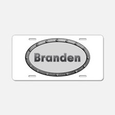 Branden Metal Oval Aluminum License Plate