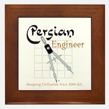 Persian Engineer Framed Tile
