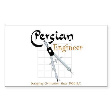 Persian Engineer Rectangle Sticker