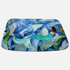 Dolphins and Memraid Art Bathmat