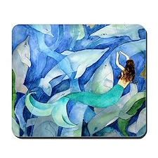 Dolphins and Memraid Art Mousepad