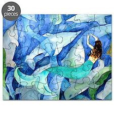 Dolphins and Memraid Art Puzzle