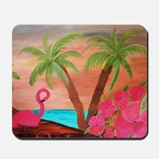 Flamingo in paradise Mousepad