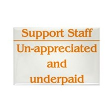Support Staff Underpaid...... Rectangle Magnet (10