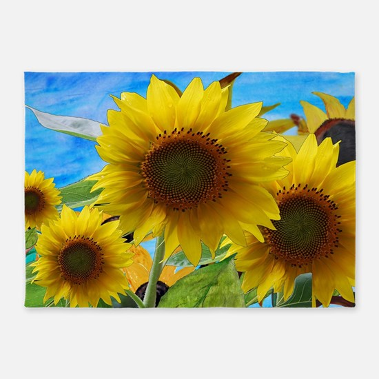 Sunflower Garden 5'x7'Area Rug