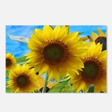 Sunflower Garden Postcards (Package of 8)