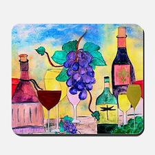 Grape Escape Wine Art Mousepad