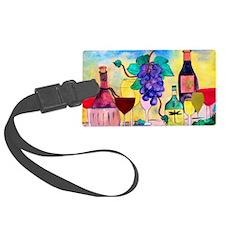 Grape Escape Wine Art Luggage Tag