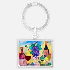 Grape Escape Wine Art Landscape Keychain