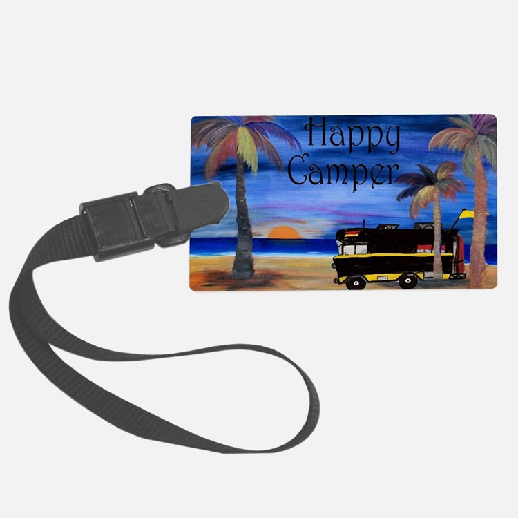Happy RV Camper  Luggage Tag