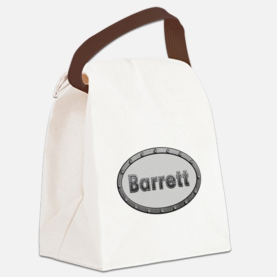 Barrett Metal Oval Canvas Lunch Bag