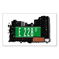E 228 St, Bronx, NYC Rectangle Decal