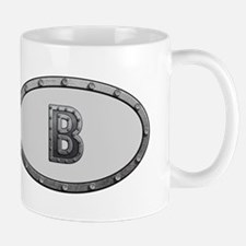 B Metal Oval Mugs