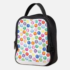 Watercolor Polka Dots Neoprene Lunch Bag
