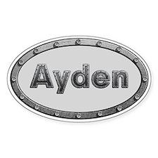 Ayden Metal Oval Decal