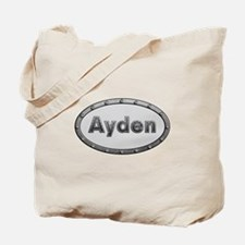 Ayden Metal Oval Tote Bag