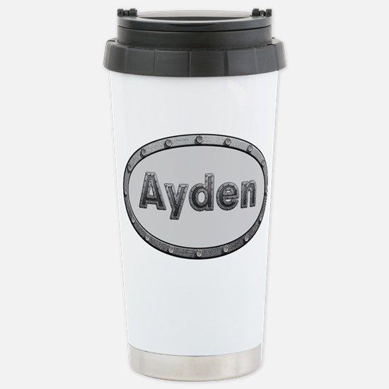 Ayden Metal Oval Travel Mug