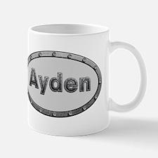 Ayden Metal Oval Mugs