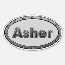 Asher Metal Oval Decal