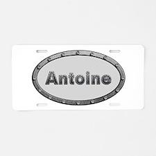 Antoine Metal Oval Aluminum License Plate