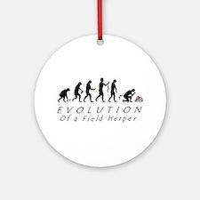 Evolution of a Field Herper Ornament (Round)