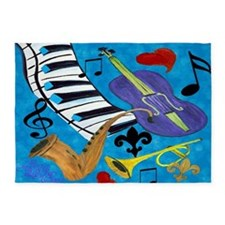 Jazz Art 5'x7'Area Rug