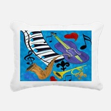 Jazz Art Rectangular Canvas Pillow
