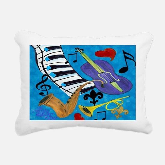 Jazz Art Rectangular Canvas Pillow