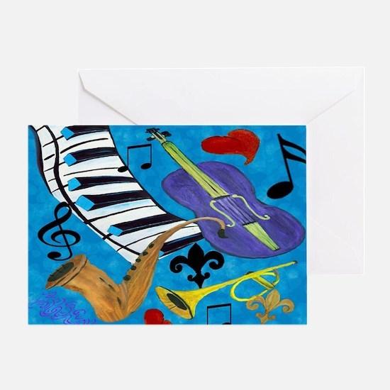 Jazz Art Greeting Card