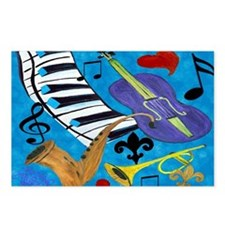 Jazz Art Postcards (Package of 8)