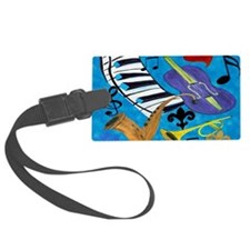 Jazz Art Luggage Tag